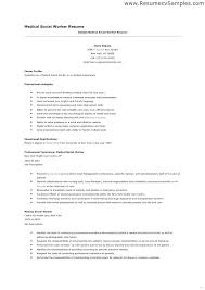 Resume Objectives For Social Workers Letter Resume Directory