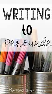 writing to persuade in steps