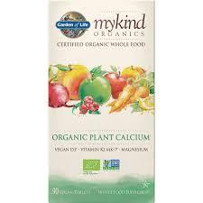 garden of life mykind organics organic plant calcium 90caps calcium magnesium planet organic
