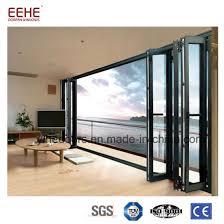 waterproof aluminium frame bifold sliding glass door