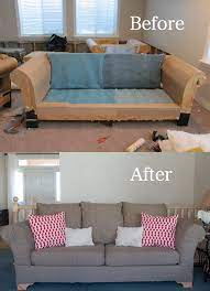 diy strip fabric from a couch