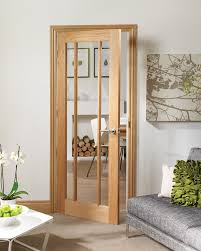 worcester 3 light internal oak fire door with clear glass lifestyle roomshot 2