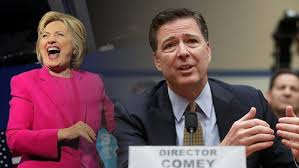 Image result for comey and hillary