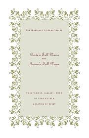 Microsoft Wedding Program Templates Wedding Program Template For Microsoft Publisher For The Future