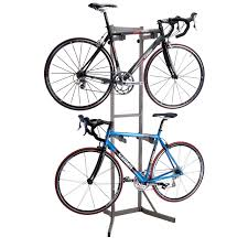 ... Featuring Grey Metal Material With Two Bike Storage Rack Commercial  Design: Terrific Bike ...