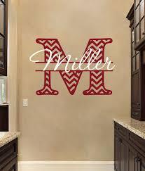 monogram vinyl wall decals