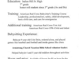 Download Babysitter Resume Objective Haadyaooverbayresort Com
