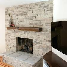 stone facade fireplace stacked veneer surround stone facade fireplace