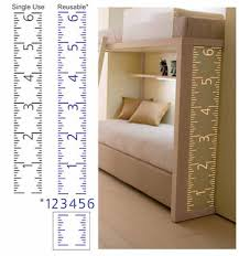Reusable Growth Chart Stencil Ready Made And Customizeable Decorative Designs