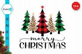 On digital or printed media. Buffalo Plaid Christmas Trees Svg Graphic By All About Svg Creative Fabrica