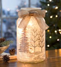 Glass Holiday Lantern With Holiday Scene | Lamps | Easy Christmas ...