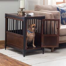 dog crates furniture style. industrial pet crate end table dog crates furniture style