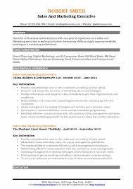good marketing resumes sales and marketing executive resume samples qwikresume