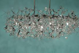 69 most magic linear chandelier crystal rectangular dining room light fixtures ceiling mesmerizing home with decoration