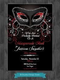 Black And Red Masquerade Party Invitation Invitations And