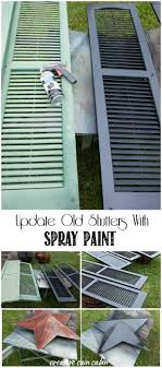 why purchase new house shutters when you can update them using spray paint for under 20