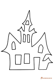 Educations Thanksgiving Haunted House Coloring Pages 7 Downloadable