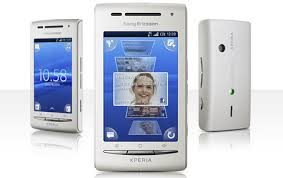 sony ericsson xperia x8. gambar sony ericsson se xperia x8, hp layar sentuh, ponsel ber-os android x8 n