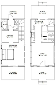 small house plans with loft and porch fresh 14 28 tiny house 14x28h6d 749 sq ft excellent floor plans