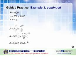 graphing exponential equations guided practice example 3 continued p 500 r 3 0 03