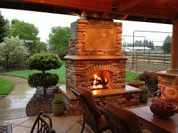 Amazing Outside Fireplace for Patio Ideas: Screened Porch And Outside  Fireplace With Patio Furniture Also Outdoor Stone Fireplace Kits And Patio  Pavers With ...