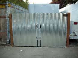 Corrugated Metal Utility Gate 7 Unique Corrugated Metal Fence