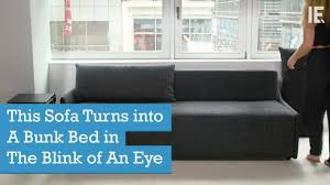 This Sofa Turns into A Bunk Bed in The Blink of An Eye - YouTube