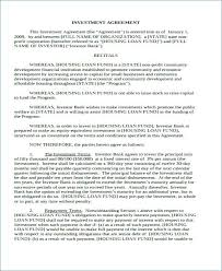 Business Investor Agreement Template 59842585095 Business