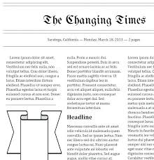 The Times Newspaper Template Newspaper Template Old Google Docs New York Times Templates