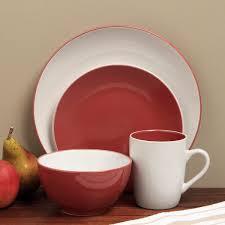 Sofia Red/ White 16-piece Dinnerware Set Shop - Free Shipping On
