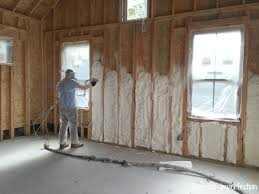 spray foam insulation in new construction home