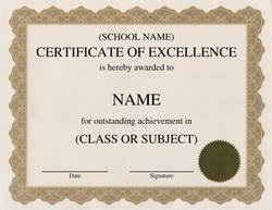 Certificate Of Excellence Template Word free excellence certificate template 10
