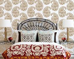 on paisley wall art stencil with indian paisley wall stencil for ethnic by royaldesignstencils