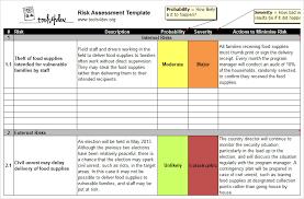 Risk assessment template | tools4dev