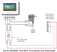 two wire thermostat wiring diagram Hvac Thermostat Wiring Diagram thermostat for wall or floor furnace hvac problem solver wiring diagram for hvac thermostat