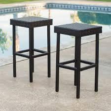 contemporary bar stools. Coral Coast Berea Backless Bar Stools - Set Of 2 Contemporary