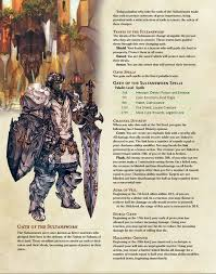 Paladin And Bard Subclass 5e Ffxiv Homebrew In 2019