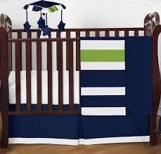 Sweet Jojo Designs Space Galaxy 11pc Crib Bedding Set Blue Sweet Jojo Diseños Bumperless En Azul A Rayas Verde 4pc