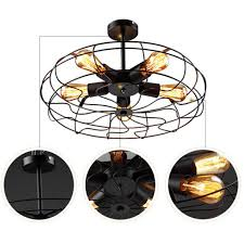 industrial vintage metal cage pendant lighting semi flush mount ceiling light