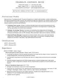 Resume For Server Administrator Exchange Server Resume Examples
