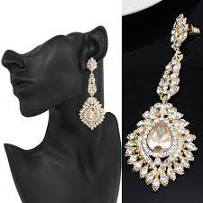 chandelier bridal earrings gold plated champagne cubic zirconia long drop earrings pageant earrings gold earrings cz earrings