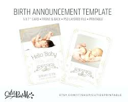free baby announcement templates baby announcement templates twins birth announcements better than
