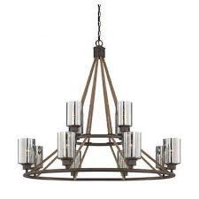 goldwater 12 light artisan rust chandelier