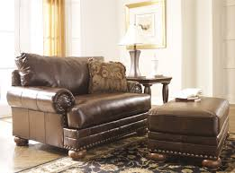 chair 1 2 with ottoman. ashley-durablend- brown chair \u0026 ottoman 1 2 with i