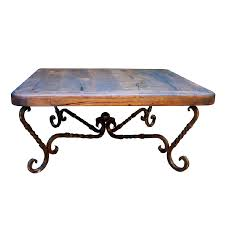 western furniture iron twist square coffee table lone star western decor