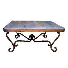western furniture iron twist square coffee table lone star western decor