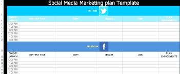 Marketing Planner Excel Marketing Plan Template Excel Social Media Free Templates Format