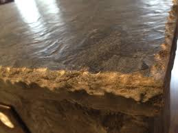 Rustic Granite Countertops We Love The Rustic Outdoorsy Look With This Double Chisel Edge