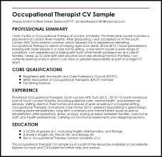 Nhs Resume Examples Occupational Therapist Cv Sample Myperfectcv