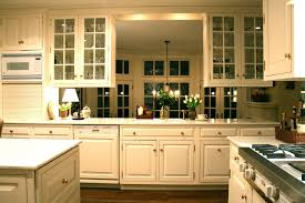 image of interior glass kitchen cabinets